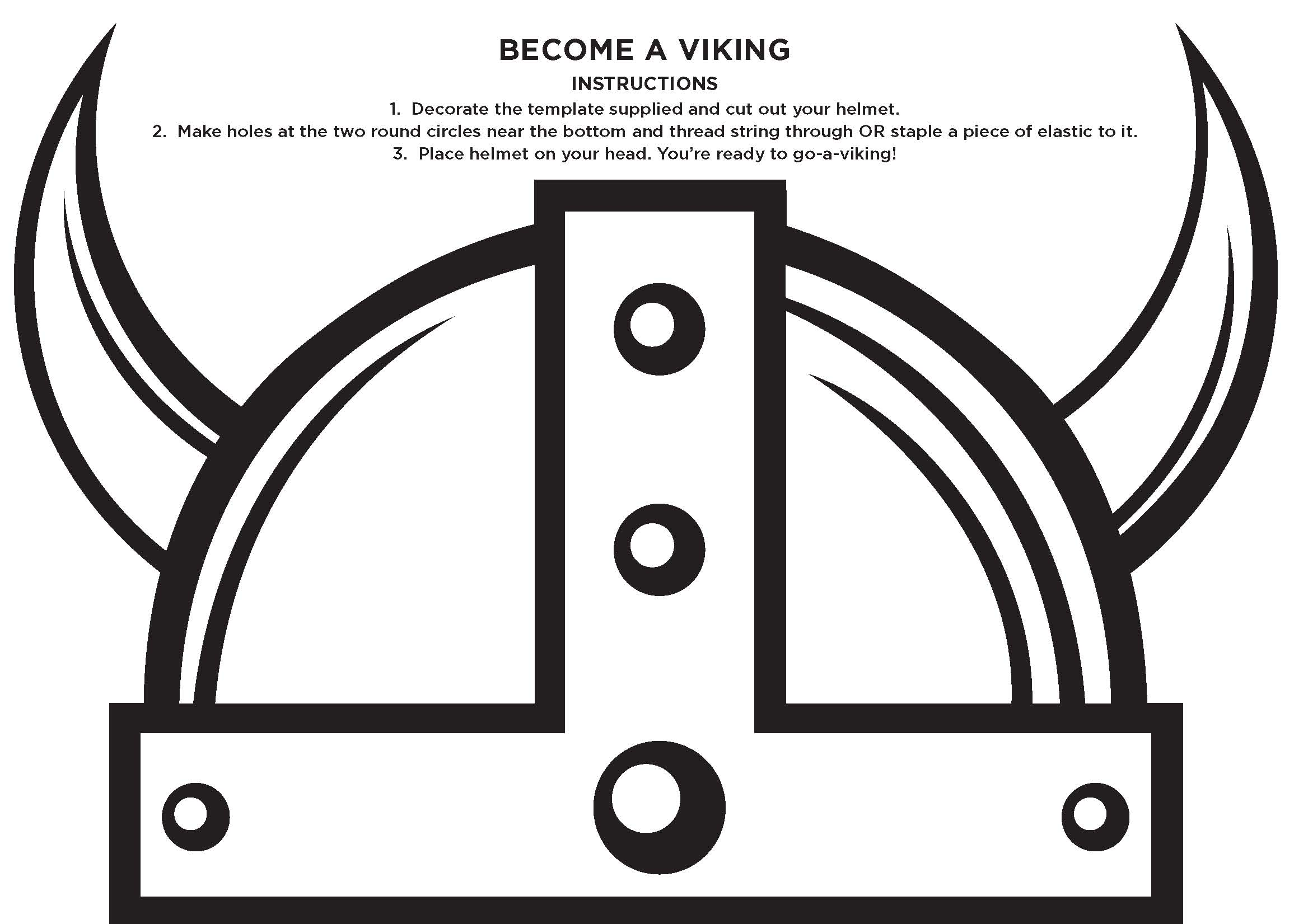 Gallery For Gt Viking Helmet Template For Kids Shield Axes And ...